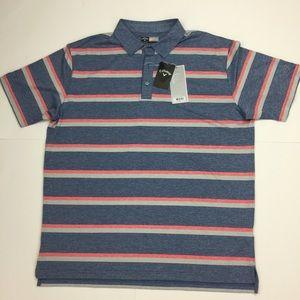 Callaway Opti Dri Men's Striped Golf Shirt Size XL